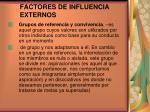 factores de influencia externos3