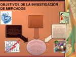 objetivos de la investigacion de mercados