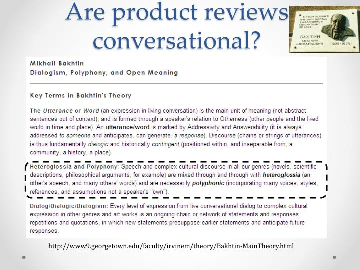 Are product reviews conversational?