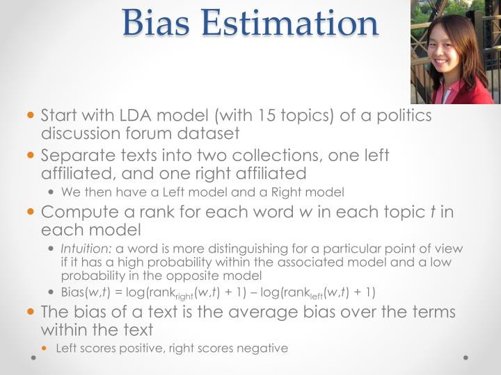 Bias Estimation