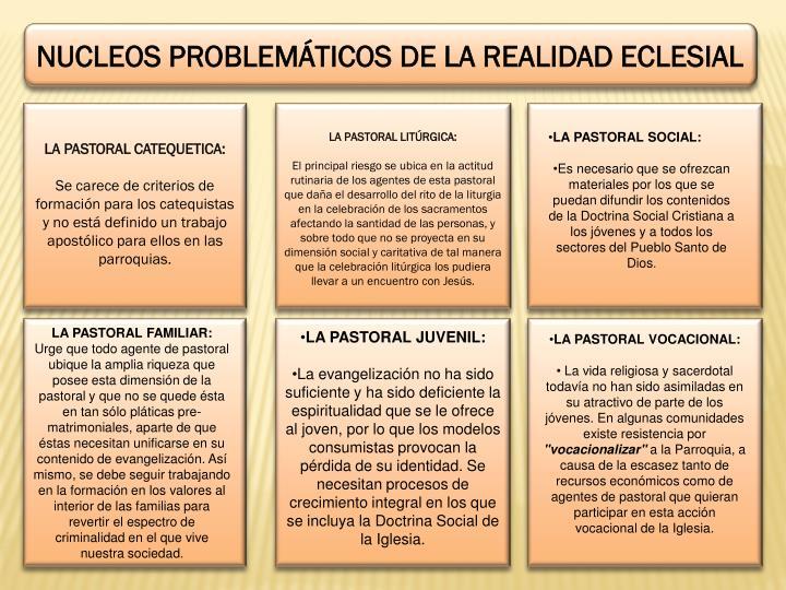 NUCLEOS PROBLEMÁTICOS DE LA REALIDAD ECLESIAL