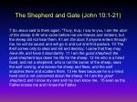 the shepherd and gate john 10 1 21