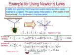 example for using newton s laws