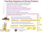 free body diagrams and solving problems