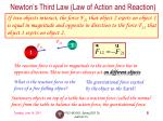 newton s third law law of action and reaction
