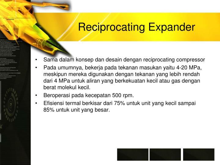 Reciprocating Expander