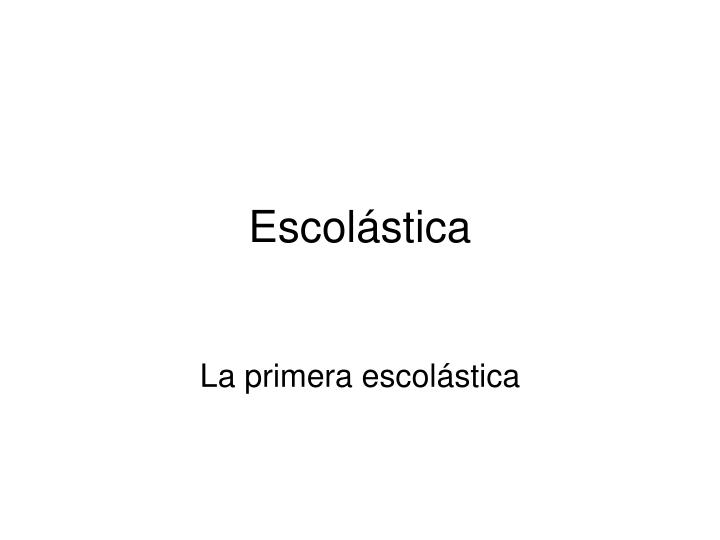 Escol stica