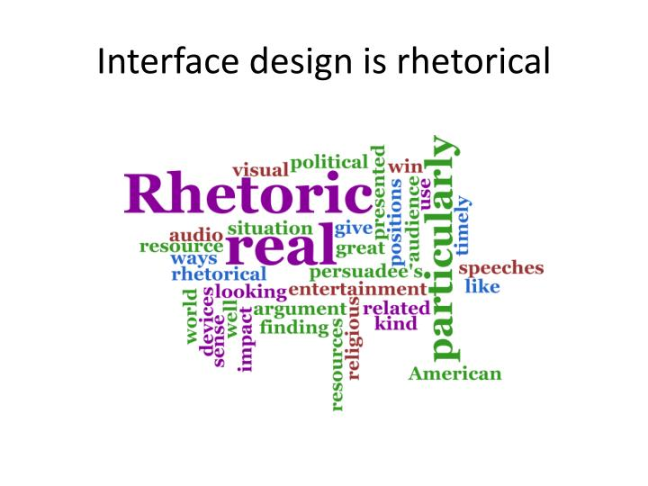 Interface design is rhetorical