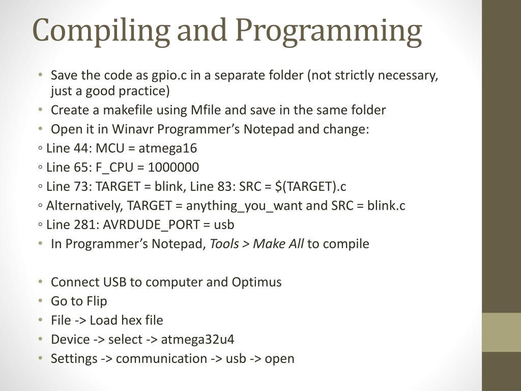 PPT - AVR Coding on OPTIMUS PowerPoint Presentation - ID:2187755