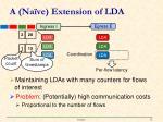 a na ve extension of lda