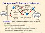 component 2 latency e stimator