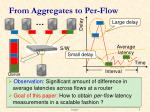 from aggregates to per flow