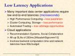 low latency applications1