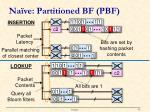 na ve partitioned bf pbf