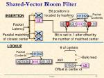 shared vector bloom filter