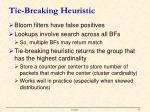 tie breaking heuristic