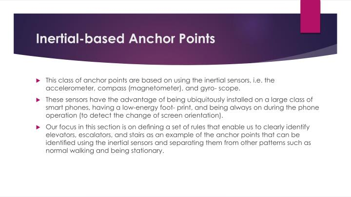 Inertial-based Anchor