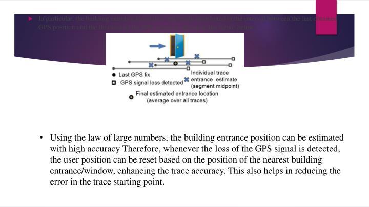 In particular, the building entrance location is uniformly