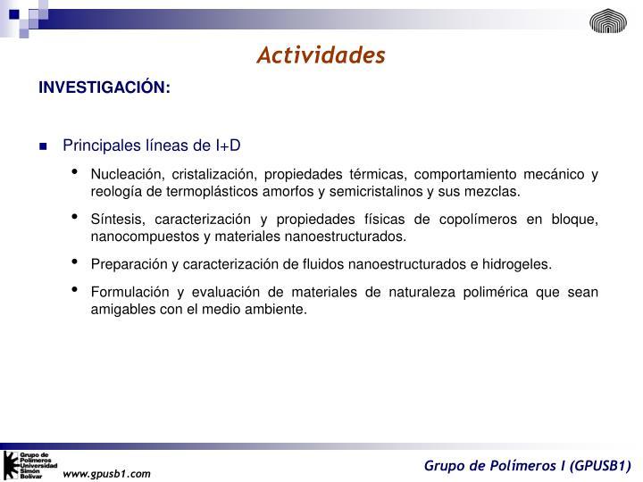 Actividades