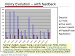 policy evolution with feedback