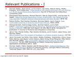 relevant publications i
