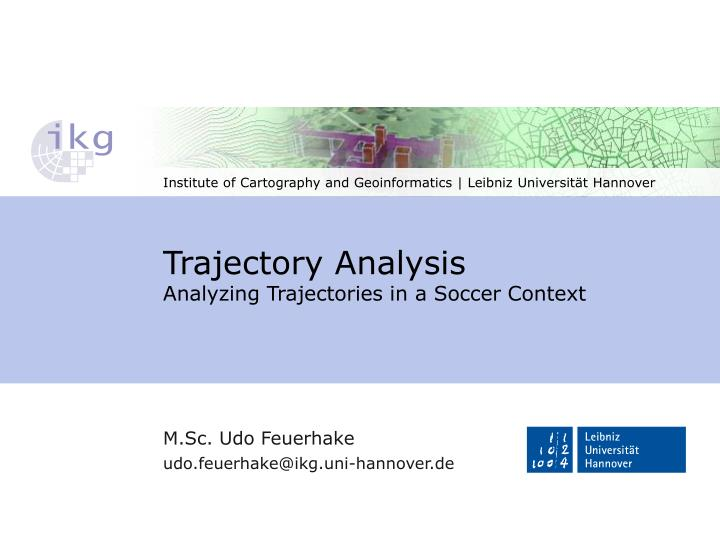 trajectory analysis analyzing trajectories in a soccer context n.