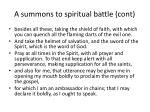 a summons to spiritual battle cont