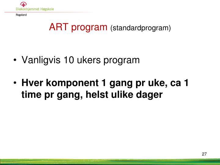 ART program