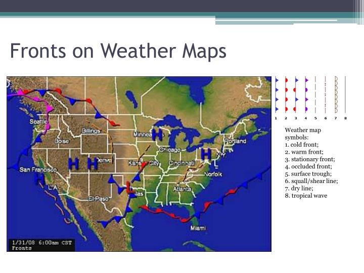 Stationary Front On A Weather Map.Ppt Weather Powerpoint Presentation Id 2188011