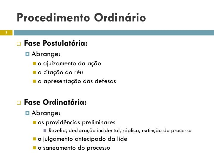 Procedimento ordin rio1