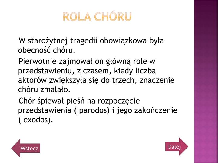 Rola Chóru