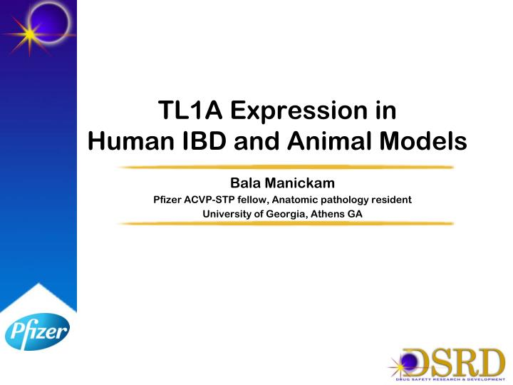 tl1a expression in human ibd and animal models n.