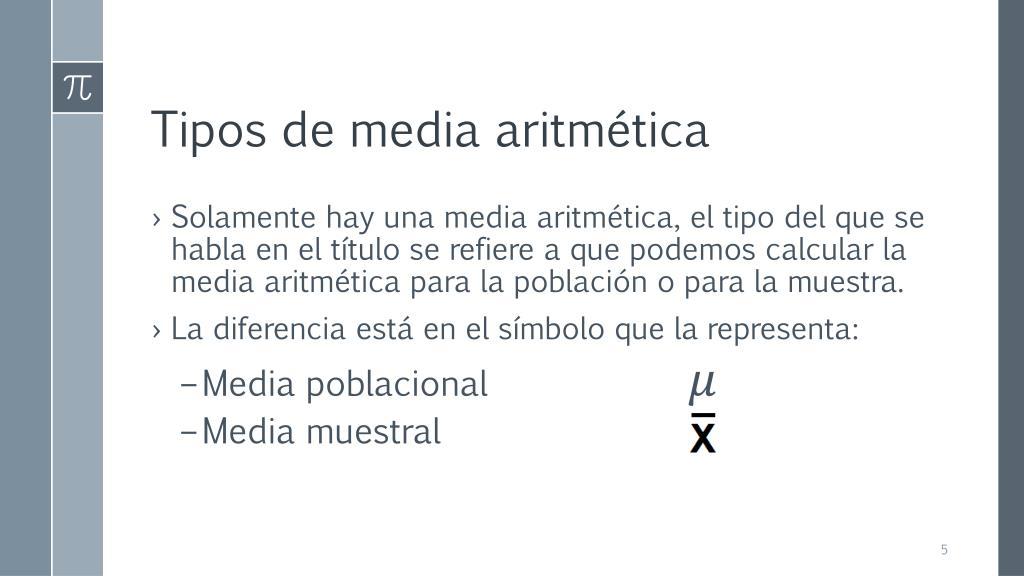 Media aritmética simple