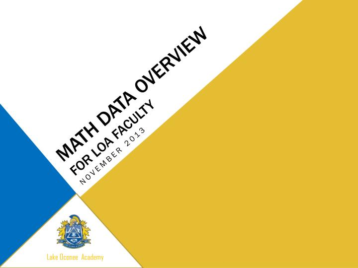 math data overview for loa faculty n.