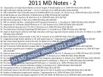2011 md notes 2