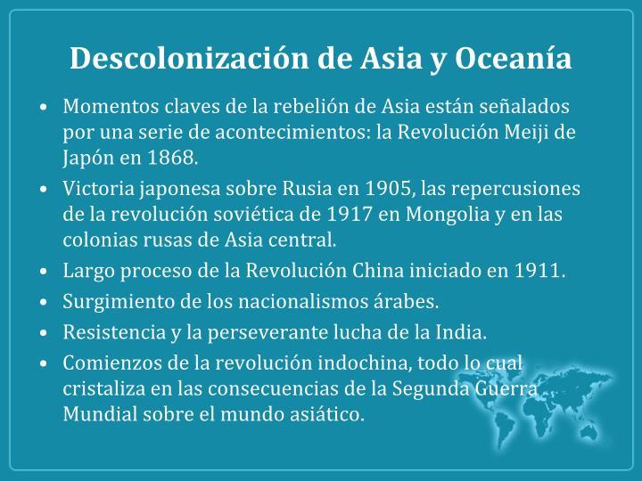 Descolonización de Asia y