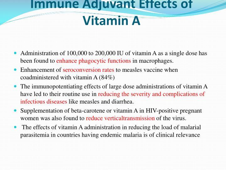 Immune Adjuvant Effects of Vitamin A