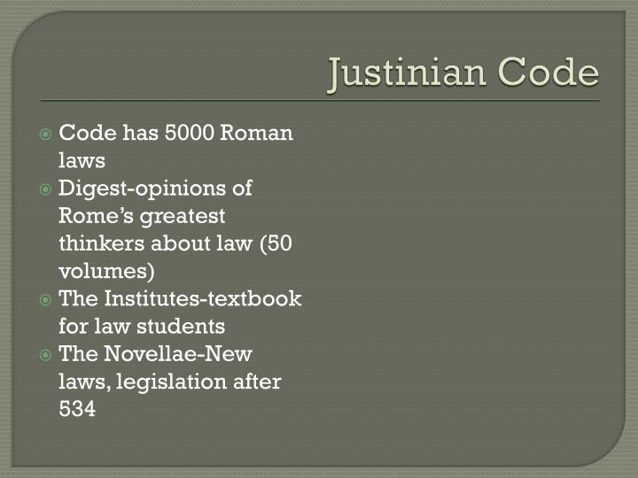 justinians code of laws