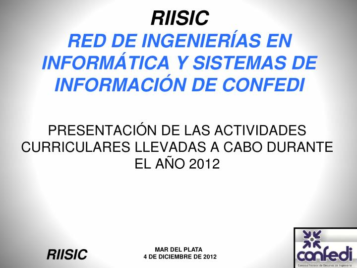Riisic red de ingenier as en inform tica y sistemas de informaci n de confedi