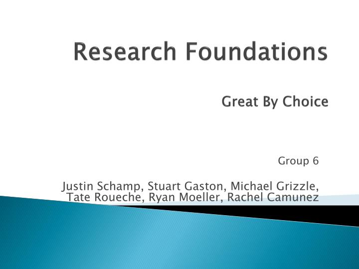 research foundations great by choice n.