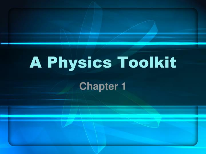 a physics toolkit n.