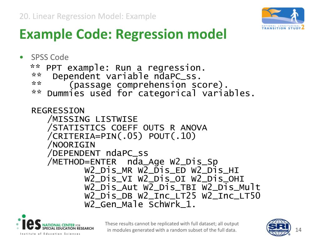 PPT - 20  Linear Regression Model: Example PowerPoint