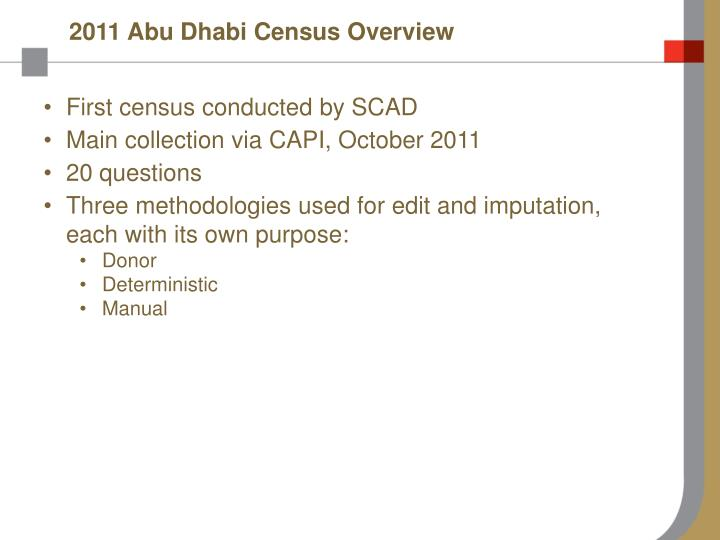 2011 Abu Dhabi Census Overview