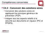 comp tences concern es1