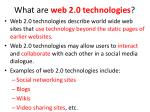 what are w eb 2 0 technologies