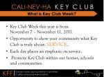 what is key club week