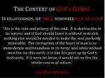 the context of god s gospel1