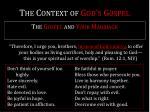 the context of god s gospel7
