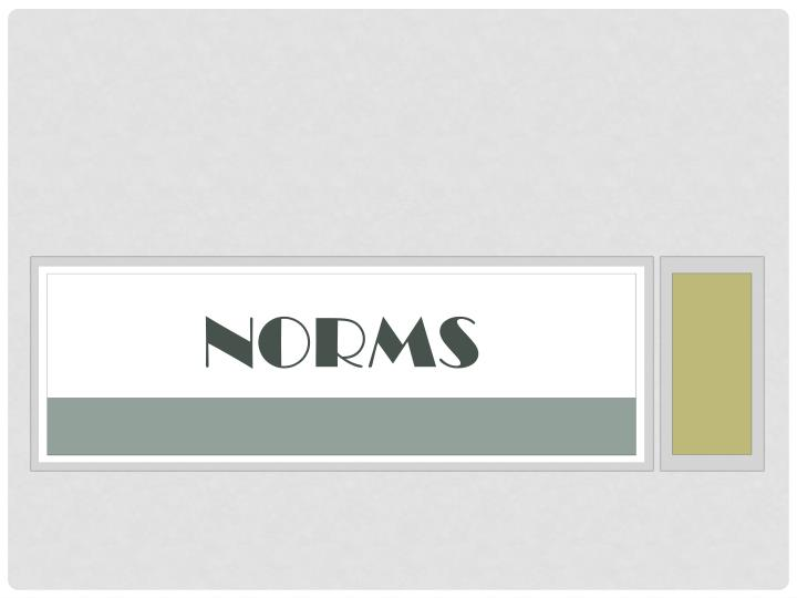 norms n.