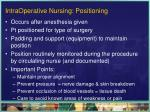 intraoperative nursing positioning